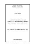 Luận văn: NGHIÊN CỨU THÀNH PHẦN HOÁ HỌC CÂY XUYÊN TÂM THẢO (CANSCORA LUCIDISSIMA) HỌ LONG ĐỞM (GENTIANACEAE) Ở CAO BẰNG