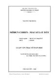 Luận văn: MÔĐUN COHEN - MACAULAY DÃY