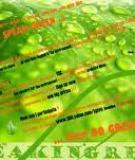 English for environmental studies - Tiếng Anh chuyên ngành môi trường