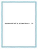 Anonymous dọa đánh sập sàn chứng khoán New York