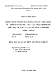 Đề tài : ĐÁNH GIÁ DI TRUYỀN ĐÀN GIỐNG THUẦN YORKSHIRE VÀ LANDRACE LIÊN KẾT GIỮA CÁC TRẠI NHẰM KHAI THÁC HIỆU QUẢ NGUỒN GEN VÀ NÂNG CAO CHẤT LƯỢNG GIỐNG