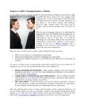 Employee Conflict: Managing Employee Attitudes