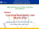 chương 3: tạo tính sinh động cho trang web-tk web & đồ họa