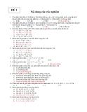 Trắc nghiệm cấu trúc dữ liệu - ĐỀ 1