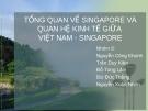 ĐỀ TÀI : TỔNG QUAN VỀ SINGAPORE VÀ QUAN HỆ KINH TẾ GIỮA VIỆT NAM - SINGAPORE