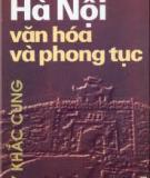 Hà Nội và Văn hóa, phong tục