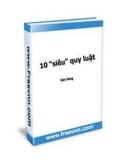 """10 """"siêu"""" quy luật bán hàng - Ebook"""