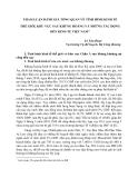 THAM LUẬN ĐÁNH GIÁ TỔNG QUAN VÊ TÌNH HÌNH KINH TẾ THẾ GIỚI, KHU VỰC SAU KHỦNG HOẢNG VÀ NHỮNG TÁC ĐỘNG ĐẾN KINH TẾ VIỆT NAM