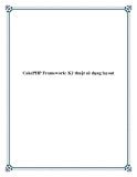 CakePHP Framework: Kỹ thuật sử dụng layout
