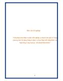 """Báo cáo tốt nghiệp: """"Giải pháp hoàn thiện và phát triển nghiệp vụ thanh toán quốc tế bằng phương thức tín dụng chứng từ phục vụ hoạt động xuất nhập khẩu tại Ngân hàng Công thương – chi nhánh Hoàn Kiếm"""""""
