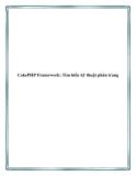 CakePHP Framework: Tìm hiểu kỹ thuật phân trang