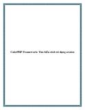 CakePHP Framework: Tìm hiểu cách sử dụng session