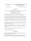Quyết định Số: 3879/QĐ-BCT VỀ VIỆC BỔ SUNG DANH MỤC MÁY MÓC, THIẾT BỊ, VẬT TƯ, NGUYÊN LIỆU TRONG NƯỚC ĐÃ SẢN XUẤT ĐƯỢC