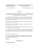 Thông tư Số: 33/2012/TT-BNNPTNT QUY ĐỊNH ĐIỀU KIỆN VỆ SINH, ĐẢM BẢO AN TOÀN THỰC PHẨM ĐỐI VỚI CƠ SỞ KINH DOANH THỊT VÀ PHỤ PHẨM ĂN ĐƯỢC CỦA ĐỘNG VẬT Ở DẠNG TƯƠI SỐNG DÙNG LÀM THỰC PHẨM