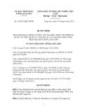 Quyết định Số: 16/2012/QĐ-UBND BAN HÀNH QUY ĐỊNH VỀ TIÊU CHUẨN, ĐIỀU KIỆN CHO PHÉP SỬ DỤNG VÀ VIỆC QUẢN LÝ THẺ ĐI LẠI CỦA DOANH NHÂN APEC TRÊN ĐỊA BÀN TỈNH LẠNG SƠN