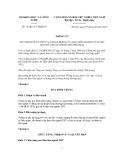 Thông tư Số: 15/2012/TT-BKHCN QUY ĐỊNH VỀ TỔ CHỨC VÀ HOẠT ĐỘNG CỦA BAN LIÊN NGÀNH VỀ HÀNG RÀO KỸ THUẬT TRONG THƯƠNG MẠI