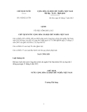 Lệnh Số: 14/2012/L-CTN VỀ VIỆC CÔNG BỐ LUẬT CHỦ TỊCH NƯỚC CỘNG HÒA XÃ HỘI CHỦ NGHĨA VIỆT NAM