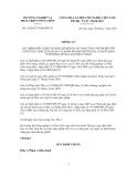 Thông tư Số: 34/2012/TT-BNNPTNT QUY ĐỊNH ĐIỀU KIỆN VỆ SINH, ĐẢM BẢO AN TOÀN THỰC PHẨM ĐỐI VỚI CƠ SỞ THU GOM, BẢO QUẢN VÀ KINH DOANH TRỨNG GIA CẦM Ở DẠNG TƯƠI SỐNG DÙNG LÀM THỰC PHẨM.