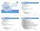 Bài Giảng Lập Trình Web -Chương 6: Lập trình Web với PHP