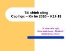 Bài giảng Tài chính công - TS. Phan Hữu Nghị