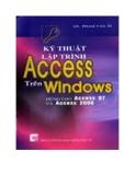 Giáo trình lập trình Access