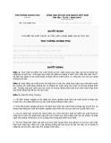Quyết định Số: 1112/QĐ-TTg THÍ ĐIỂM TÁI XUẤT THUỐC LÁ CÒN CHẤT LƯỢNG NHẬP LẬU BỊ TỊCH THU