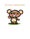 How to Draw a Cuddly Cartoon Bear