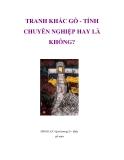 TRANH KHẮC GỖ - TÍNH CHUYÊN NGHIỆP HAY LÀ KHÔNG? HAY LÀ KHÔNG?ĐINH LỰC-Quê hương II - khắc
