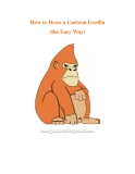 How to Draw a Cartoon Gorilla (the Easy Way)