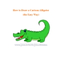 How to Draw a Cartoon Alligator (the Easy Way)