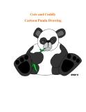 Cute and Cuddly Cartoon Panda Drawing