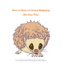 How to Draw a Cartoon Hedgehog (the Easy Way)