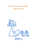 How to Draw a Cartoon Duck (the Easy Way)