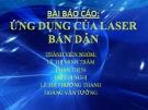 Ứng dụng của Laser bán dẫn