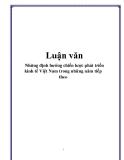 Luận văn: Những định hướng chiến lược phát triển kinh tế Việt Nam trong những năm tiếp theo