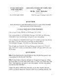 Quy định Số: 29/2012/QĐ-UBND BAN HÀNH QUY CHẾ PHỐI HỢP QUẢN LÝ CỤM CÔNG NGHIỆP TRÊN ĐỊA BÀN TỈNH VĨNH PHÚC