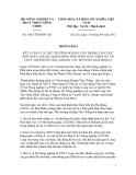 Thông báo Số: 4561/TB-BNN-XD THÔNG BÁO KẾT LUẬN CỦA THỨ TRƯỞNG HOÀNG VĂN THẮNG TẠI CUỘC HỌP NGÀY 25/8/2012 KIỂM ĐIỂM TÌNH HÌNH THỰC HIỆN DỰ ÁN THỦY LỢI PHƯỚC HÒA, KHOẢN VAY BỔ SUNG GIAI ĐOẠN 2