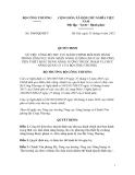 Quyết Định Số: 5069/QĐ-BCT, VỀ VIỆC CÔNG BỐ THỦ TỤC HÀNH CHÍNH MỚI BAN HÀNH TRONG LĨNH VỰC DÁN NHÃN NĂNG LƯỢNG CHO CÁC PHƯƠNG TIỆN THIẾT BỊ SỬ DỤNG NĂNG LƯỢNG THUỘC PHẠM VI, CHỨC NĂNG QUẢN LÝ CỦA BỘ CÔNG THƯƠNG