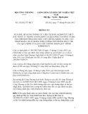 THÔNG TƯ Số: 25/2012/TT-BCT, SỬA ĐỔI, BỔ SUNG THÔNG TƯ LIÊN TỊCH SỐ 14/2009/TTLT-BCT-BTC NGÀY 23 THÁNG 6 NĂM 2009 CỦA BỘ CÔNG THƯƠNG VÀ BỘ TÀI CHÍNH HƯỚNG DẪN VIỆC CẤP CHỨNG NHẬN VÀ THỦ TỤC NHẬP KHẨU, XUẤT KHẨU KIM CƯƠNG THÔ NHẰM THỰC THI CÁC QUY ĐỊNH CỦA QUY CHẾ CHỨNG NHẬN QUY TRÌNH KIMBERLEY