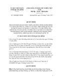 Quy định Số: 1686/QĐ-UBND BAN HÀNH KẾ HOẠCH THỰC HIỆN CHƯƠNG TRÌNH HÀNH ĐỘNG CỦA BAN THƯỜNG VỤ TỈNH ỦY VỀ THỰC HIỆN NGHỊ QUYẾT SỐ 09-NQ/TW NGÀY 09 THÁNG 12 NĂM 2011 CỦA BỘ CHÍNH TRỊ (KHÓA XI) VỀ XÂY DỰNG VÀ PHÁT HUY VAI TRÒ CỦA ĐỘI NGŨ DOANH NHÂN VIỆT NAM TRONG THỜI KỲ ĐẨY MẠNH CÔNG NGHIỆP HÓA, HIỆN ĐẠI HÓA VÀ HỘI NHẬP QUỐC TẾ