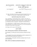 QUYẾT ĐỊNH Số: 5353/QĐ-BCT VỀ VIỆC CHỈ ĐỊNH VÀ HƯỚNG DẪN DOANH NGHIỆP TÁI XUẤT THUỐC LÁ CÒN CHẤT LƯỢNG NHẬP LẬU BỊ TỊCH THU