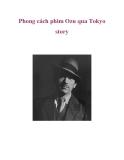 Phong cách phim Ozu qua Tokyo story