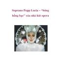 """Soprano Popp Lucia – """"bông hồng bạc"""" của nhà hát opera"""