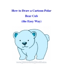 How to Draw a Cartoon Polar Bear Cub (the Easy Way)