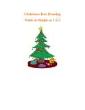 Christmas Tree Drawing Made as Simple as 1-2-3