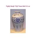 Nghệ thuật Việt Nam thời Lê sơ