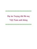 Dự án Tượng đài Bà mẹ Việt Nam anh hùng