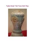 Nghệ thuật Việt Nam thời Mạc