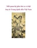 Mối quan hệ giữa thơ ca và hội hoạ từ Trung Quốc đến Việt Nam