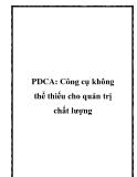 PDCA: Công cụ không thể thiếu cho quản trị chất lượng